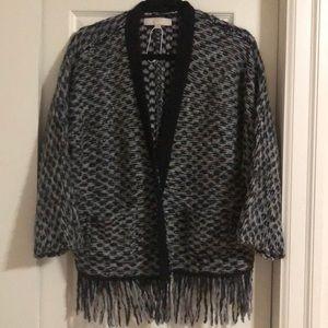 NWOT LOFT black and grey cardigan